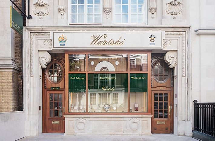 Wartski, exterior. Photograph by Irina Boersma. Image © Wartski and Waldo Works.