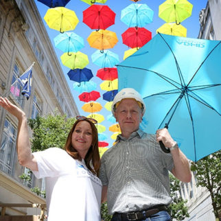 Local Businesses Urged to Support Umbrella Project Come Rain or Shine